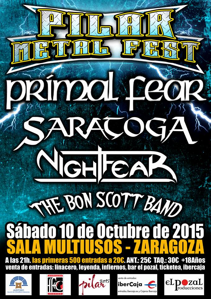 Metal heart pilar metal fest 2015 horarios for Sala multiusos zaragoza