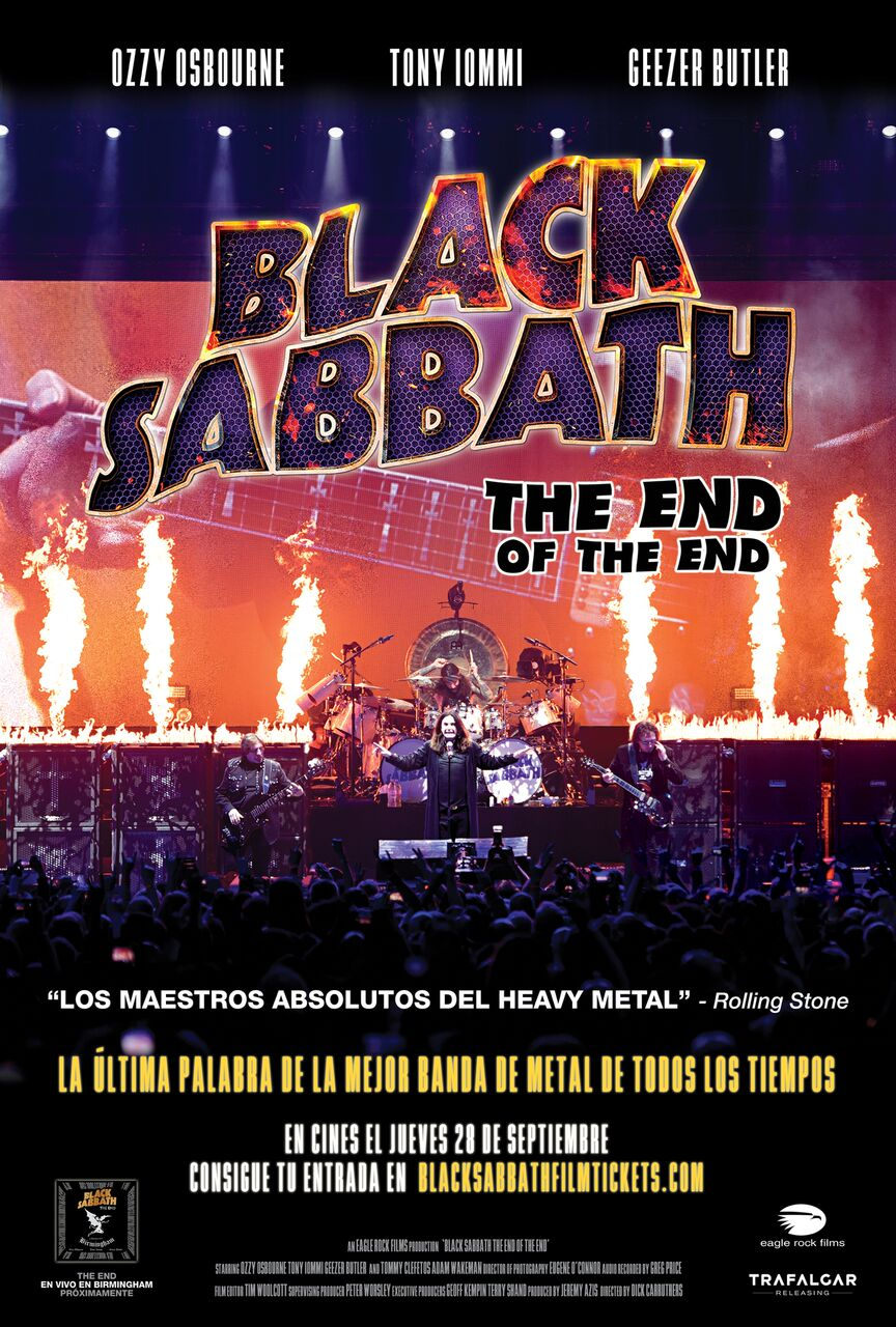 BLACK SABBATH ONE SHEET POSTER Spanish