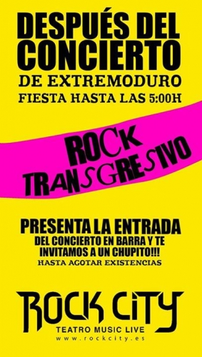 FIESTA ROCK TRANSGRESIVO - Valencia Rock City